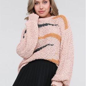 Pink Fuzzy Nordstrom Pullover Sweatshirt